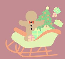 Gingerbread man in Sleigh #3 by simplepaperplan