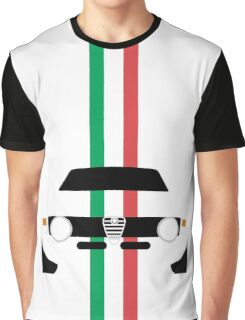 Simplistic Classic Italian coupe with verticle Italian stripes Graphic T-Shirt