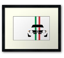 Simplistic Giulia Sprint GTA with verticle Italian stripes Framed Print