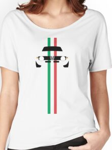 Simplistic Classic Italian coupe with verticle Italian stripes Women's Relaxed Fit T-Shirt