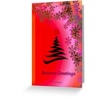 Seasons Greetings - Pink Red Orange Bright Greeting Card