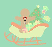 Gingerbread man in Sleigh #4 by simplepaperplan