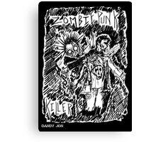 Zombie Punk Killer Canvas Print
