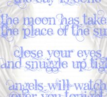 Angels Watching Tonight Sticker