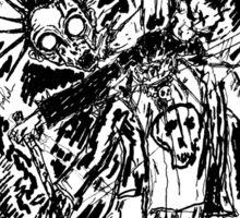 Zombie Punk Killer Sticker