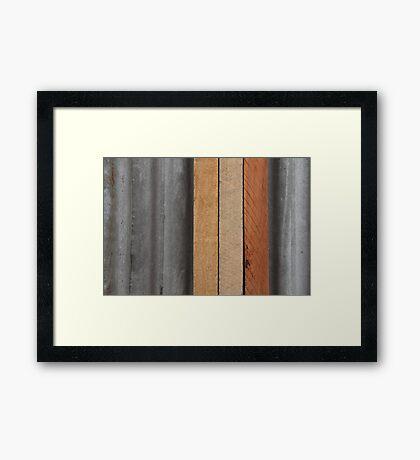 Hardwood on Metal Framed Print