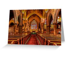 St Saviours Cathedral - Goulburn , NSW Australia C1874 - The HDR Experience Greeting Card