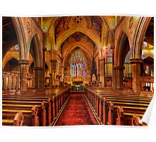 St Saviours Cathedral - Goulburn , NSW Australia C1874 - The HDR Experience Poster