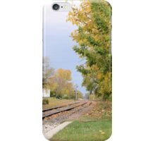 Autumn by the Tracks iPhone Case/Skin