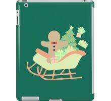Gingerbread man in Sleigh #5 iPad Case/Skin