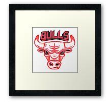 BULLS hand-drawing Framed Print