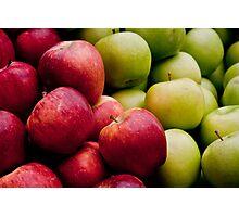 Red and Green Apples  Photographic Print