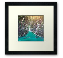 Secret Falls Framed Print