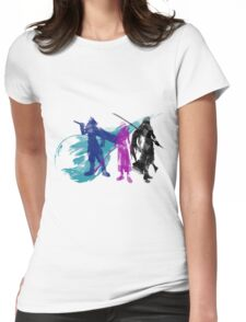 Final Fantasy VII Trio Souls Womens Fitted T-Shirt