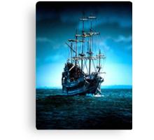 Sails in Blue Canvas Print
