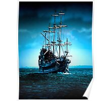 Sails in Blue Poster