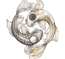 Ying and Yang Koi by artistjodysteel