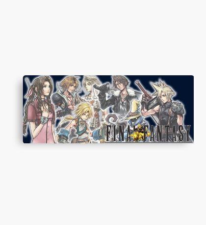 Final Fantasy Group Canvas Print
