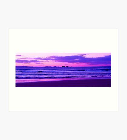 Sunset Over Julian Rocks Byron Bay Art Print