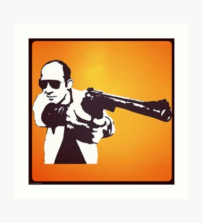 Hunter S Thompson - Gun Art Print