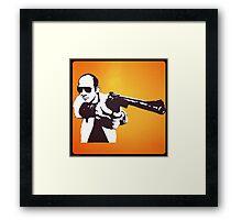 Hunter S Thompson - Gun Framed Print