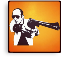 Hunter S Thompson - Gun Canvas Print