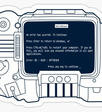 Windows for Pipboy Sticker