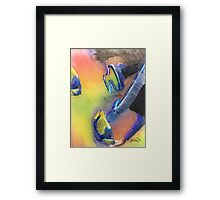 Scuba Diver and Fish Framed Print