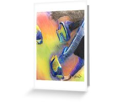 Scuba Diver and Fish Greeting Card