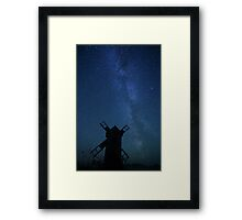 Windmill and Milky Way  Framed Print