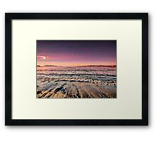 Alone with the waves Framed Print
