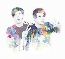 dan and phil by Hunter-Nerd