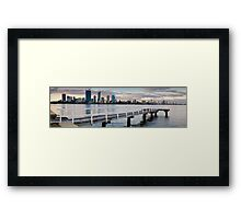 The Jetty, A Perth City Panorama  Framed Print