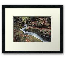 The Narrowing Canyon November 2012 Framed Print