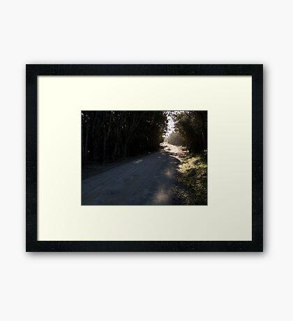 Brighter Around the Bend Framed Print