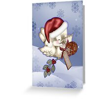 Baby`s First Christmas Card Greeting Card