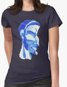The face in Blue Womens Fitted T-Shirt