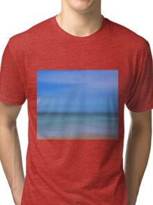 Abstract Seascape Tri-blend T-Shirt