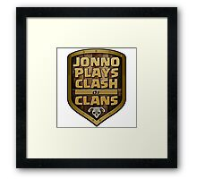 Jonno Plays Clash of Clans Logo Framed Print
