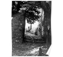 Cobbled street Montouliers France Poster