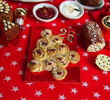 1/12th scale miniature Christmas Tree Bread by SadieBrown