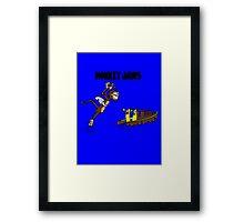 Monkey Jaws Framed Print