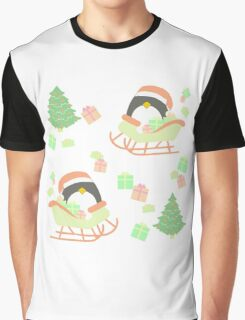 Penguin in Sleigh #1 Graphic T-Shirt