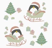 Penguin in Sleigh #1 Baby Tee