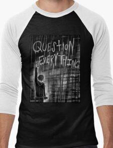 Question Everything Men's Baseball ¾ T-Shirt