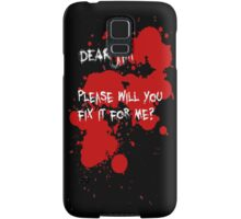 Dear Jim... (Black) Samsung Galaxy Case/Skin