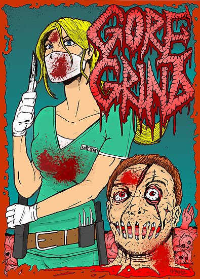 Goregrind - Nurse Kate Gore by MetalheadMerch