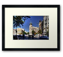 Crossing in the shade Framed Print