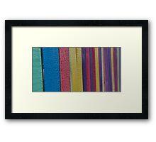 Rainbow Strip Framed Print