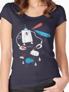 Robot love. Women's Fitted Scoop T-Shirt